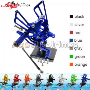 Motorcycle Triumph Speed Triple 509/595/955/1050 Rearset Foot Pegs Footrests Adjustable blue