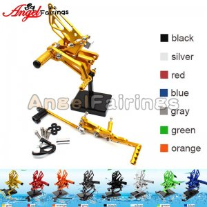 Motorcycle Triumph DAYTONA675R 2006-2012 Rearset Foot Pegs Footrests Adjustable yellow